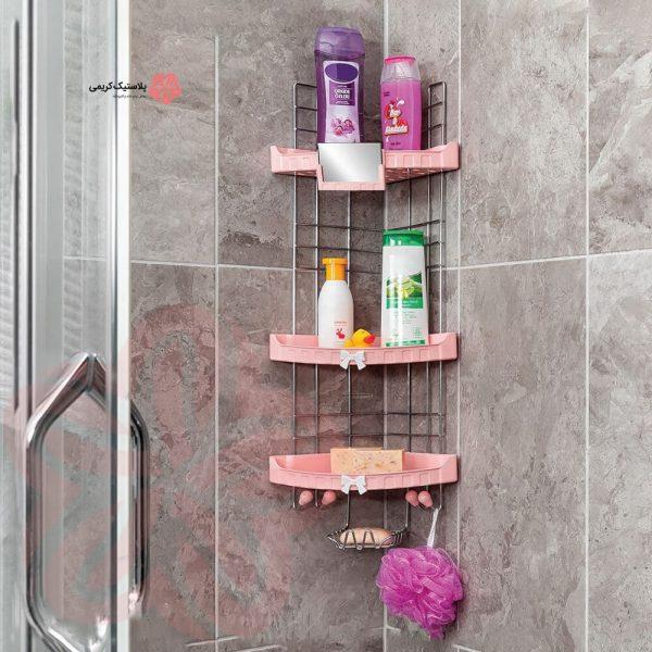 سه گوش حمام آینه دار سه طبقه بازن مدل لایف